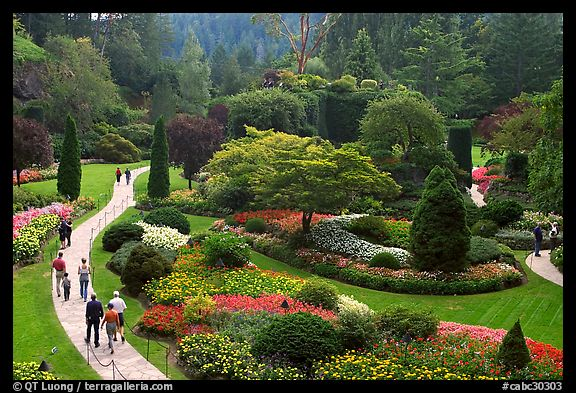 Butchart gardens pictures north america stock photos fine art butchart gardens victoria british columbia canada color thecheapjerseys Choice Image