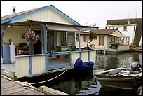 Houseboat, Upper Harbour. Victoria, British Columbia, Canada (color)