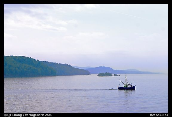 Fishing boat in the San Juan Islands. Vancouver Island, British Columbia, Canada (color)