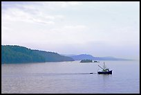 Fishing boat in the San Juan Islands. Vancouver Island, British Columbia, Canada