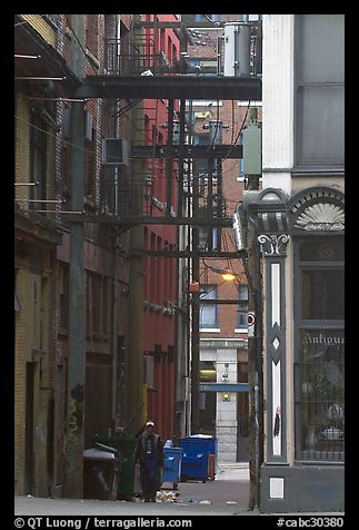 Alley in Gastown. Vancouver, British Columbia, Canada (color)