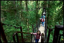 Kid on treetop trail. Vancouver, British Columbia, Canada ( color)