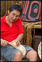 First nations carver. Vancouver, British Columbia, Canada ( color)