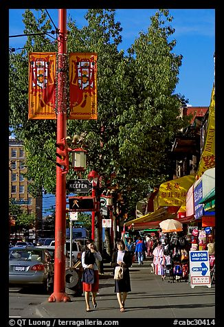 Chinatown street. Vancouver, British Columbia, Canada (color)