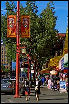 Chinatown street. Vancouver, British Columbia, Canada ( color)