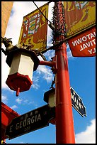 Street names in English and Chinese, Chinatown. Vancouver, British Columbia, Canada ( color)