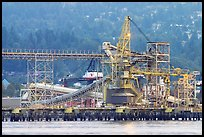 Industrial installations in harbor. Vancouver, British Columbia, Canada ( color)