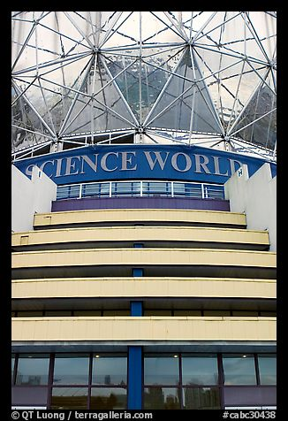 Close-up of Science world building. Vancouver, British Columbia, Canada (color)