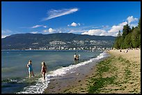 Girls playing in water, Stanley Park. Vancouver, British Columbia, Canada