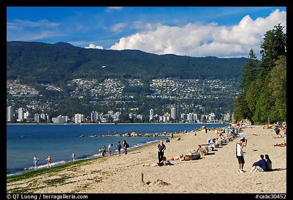 Beach, Stanley Park. Vancouver, British Columbia, Canada (color)