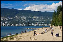 Beach, Stanley Park. Vancouver, British Columbia, Canada ( color)