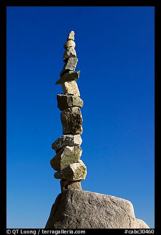 Balanced rocks against blue sky, Stanley Park. Vancouver, British Columbia, Canada (color)
