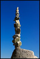 Balanced rocks against blue sky, Stanley Park. Vancouver, British Columbia, Canada ( color)