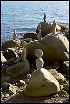 Balanced rocks. Vancouver, British Columbia, Canada ( color)