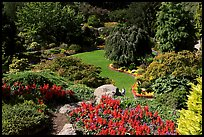 Sunken Garden in Queen Elizabeth Park. Vancouver, British Columbia, Canada (color)