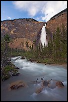 Yoho River flowing from Takakkaw Falls. Yoho National Park, Canadian Rockies, British Columbia, Canada