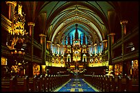 Interior of Basilique Notre Dame, Montreal. Quebec, Canada ( color)