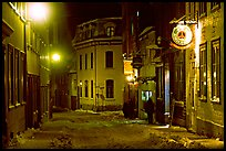 Hostel at night, Quebec City. Quebec, Canada ( color)