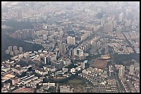 Aerial view, Shenzhen. (color)