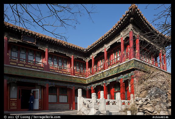 Eternal Spring Palace,  Forbidden City. Beijing, China (color)