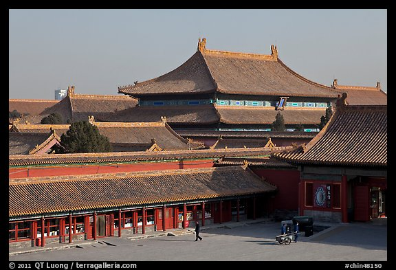 Hall of bronzes, imperial palace, Forbidden City. Beijing, China