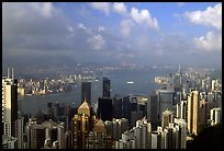 View from Victoria Peak, late afternoon. Hong-Kong, China ( color)