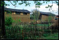 Traditional rural houses. Baisha, Yunnan, China (color)