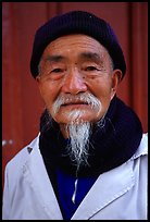 Dr Ho, famous herborist doctor. Baisha, Yunnan, China ( color)
