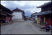 Main village plaza. Baisha, Yunnan, China