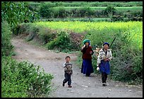 Women returning from the fields. Baisha, Yunnan, China ( color)