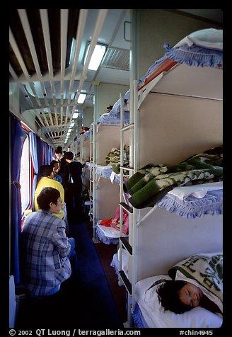 Sleeping In Car >> Picture/Photo: Inside a hard sleeper car train.