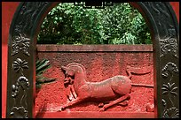 Mahaoya Bowuguan, burial site from the Eastern Han dynasty AD 25-220.. Leshan, Sichuan, China (color)