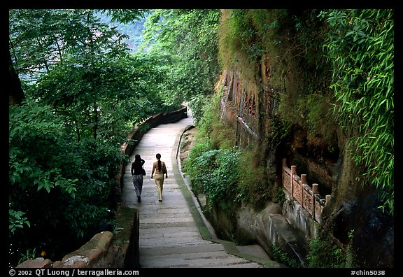 Entrance walkway to the Grand Buddha complex. Leshan, Sichuan, China