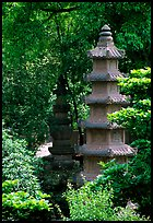 Stupa in the gardens of Wuyou Si. Leshan, Sichuan, China (color)