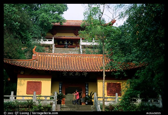 Jiazhou Huayuan temple in Dafo Si. Leshan, Sichuan, China (color)