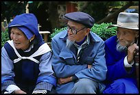 Elder Naxi people. Lijiang, Yunnan, China