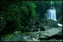 Waterfall between Qingyin and Hongchunping. Emei Shan, Sichuan, China ( color)