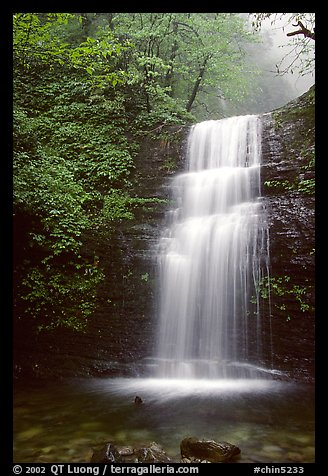 Waterfall between Xiangfeng and Yuxian. Emei Shan, Sichuan, China