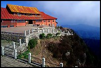 Jinding Si monestary, early morning. Emei Shan, Sichuan, China ( color)