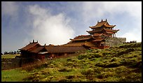 Jinding Si temple, mid-morning. Emei Shan, Sichuan, China ( color)