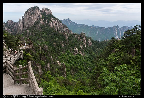 Trail. Huangshan Mountain, China (color)
