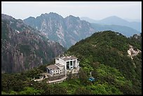 Cable car and station. Huangshan Mountain, China ( color)