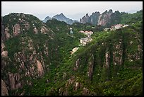 Hotels perched near montaintop. Huangshan Mountain, China ( color)