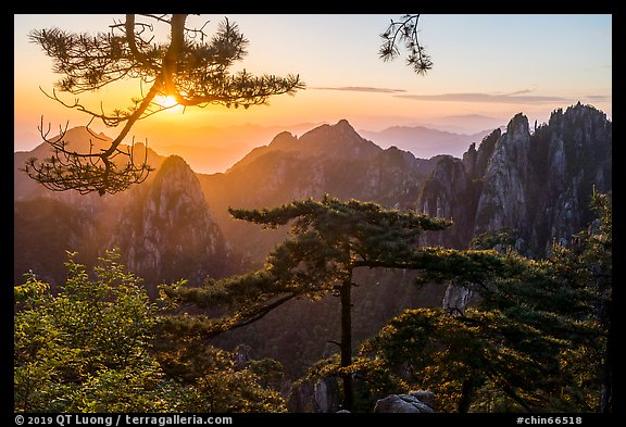 Sunrise. Huangshan Mountain, China (color)