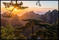 Sunrise. Huangshan Mountain, China ( color)