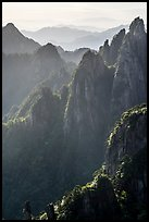 Stone pinnacles. Huangshan Mountain, China ( color)