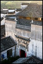 Historic house from above. Xidi Village, Anhui, China ( color)