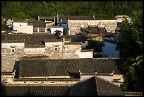Ancient rooftops. Xidi Village, Anhui, China ( color)