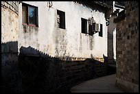 Roof shadows and wall. Xidi Village, Anhui, China ( color)