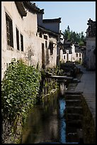 Front stream in village street. Xidi Village, Anhui, China ( color)